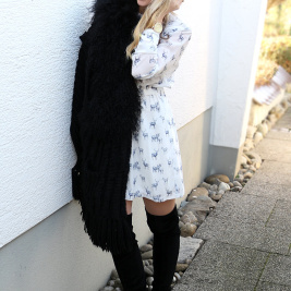 X-Mas Dress, Fur Vest, Overknees